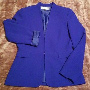 Tahari sz 6p Royal Blue Petite Ladies Blazer